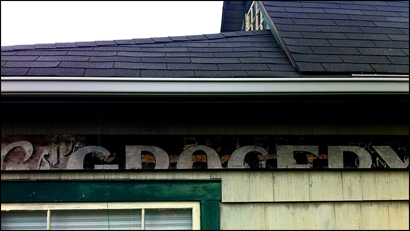 Grocery Sign On House