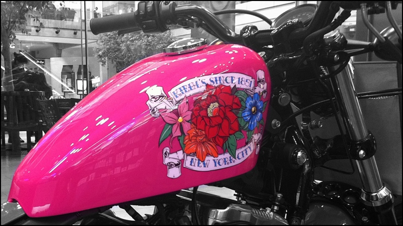 pink motorcycle