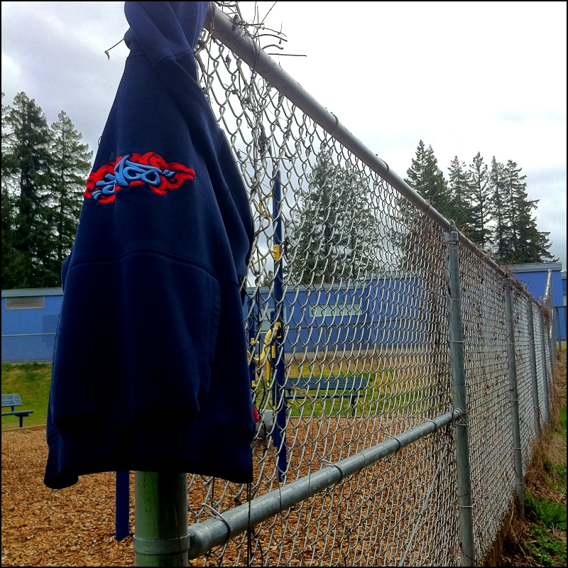jacket on fence