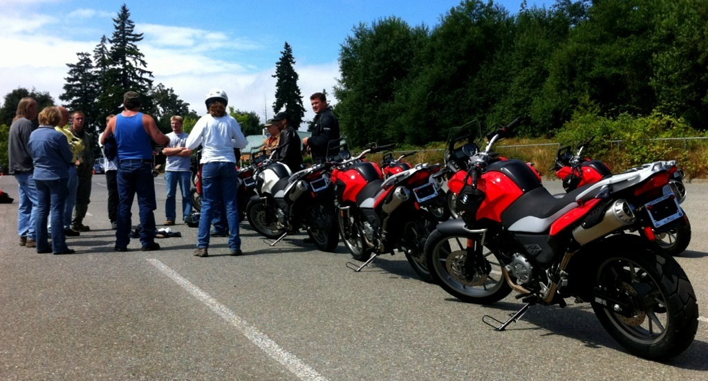 motorcycles at safety class